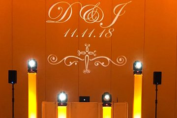 monograms, wedding initials, lighting
